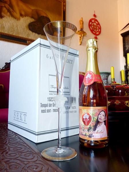 6 Flaschen edler Jahrgangs-Sekt – rosé