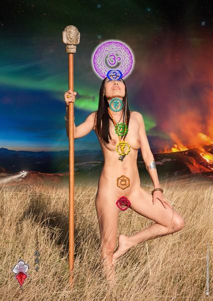 Poster: Die Energie-Zentren (Chakren) des Körpers