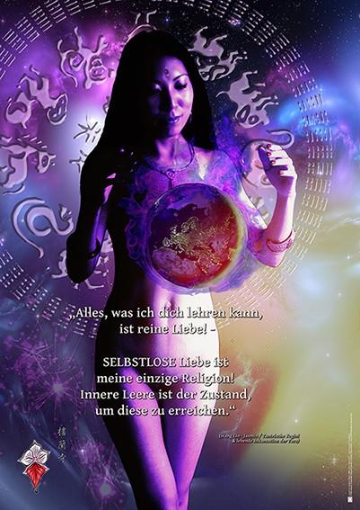 Poster: Selbstlose Liebe & Leerheit